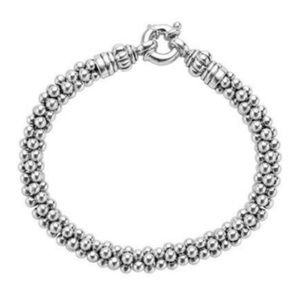 LAGOS ROPE 925 ST SILVER CAVIAR 7mm BRACELET